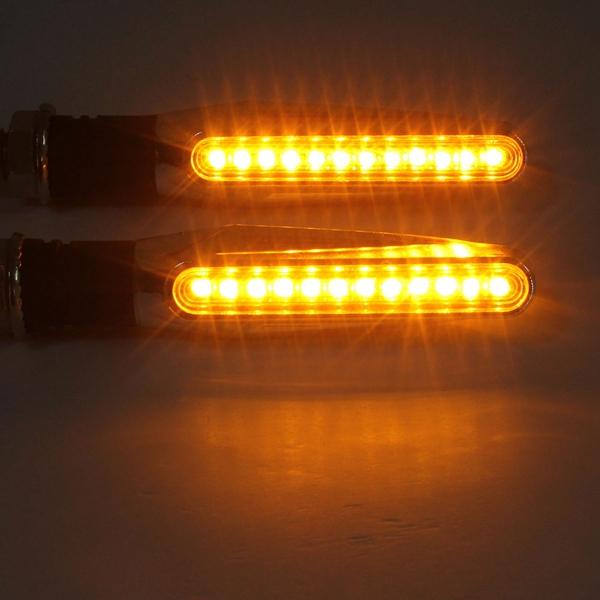 4本のオートバイLEDターンシグナルインジケータオレンジ色のライト