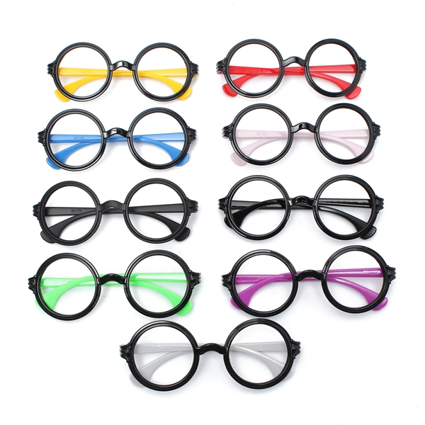 Decorative PC Material Hot Fashion Retro Big Round Eyeglasses Frame No Lens