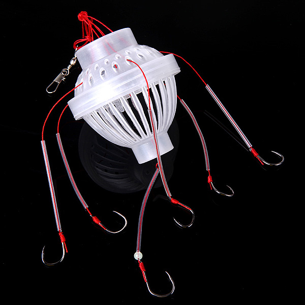 Fishing Tackle Sea Monster with Six Strong Fishing Hooks 1 set 15pcs vertical buoy sea fishing floats assorted size for most type of angling with attachment rubbers fishing lures