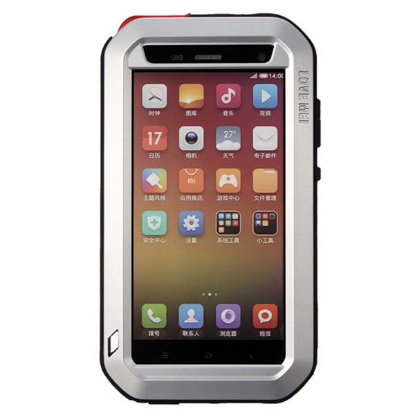 Metal Waterproof Shockproof Dustproof Case For Xiaomi Mi 4