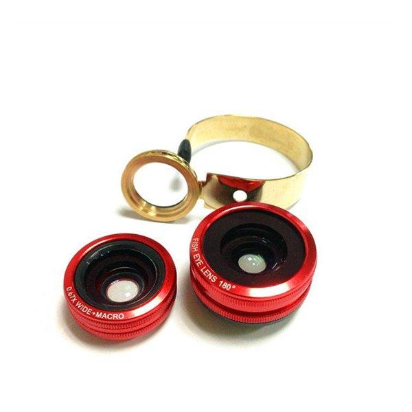 Fisheye Macro Wide Angle Lens 3 In 1 Generic Triple For Cellphone