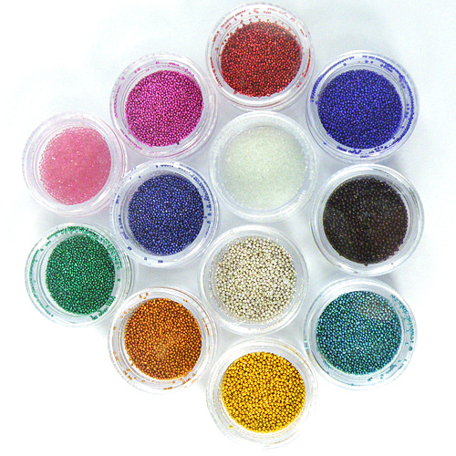 12 Colors Mini Beads Pearls Nail Art Tips Decoration от Banggood INT