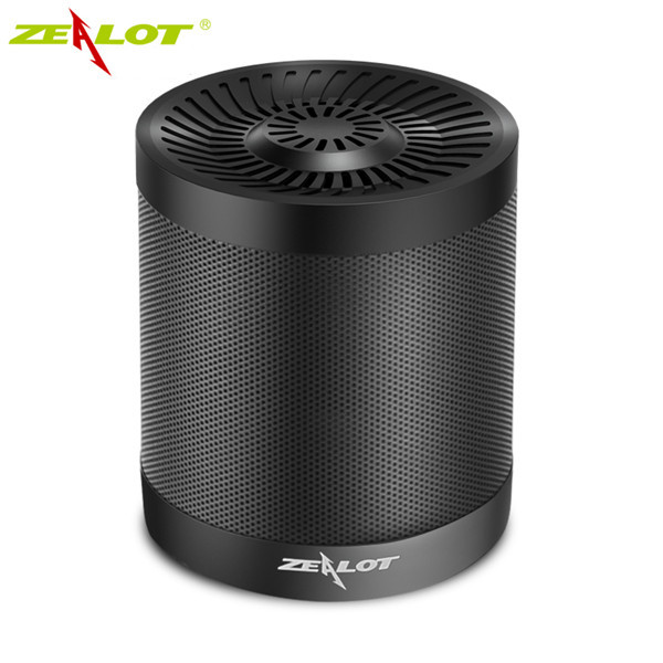 ZEALOT S5 2000mAh Outdoor Portable TF Card AUX FM Radio Flash Disk Wireless Bluetooth 4.0 Speaker abs three horn multimedia bluetooth wireless portable speaker super bass with usb tf aux fm radio sealed woody box wholesale