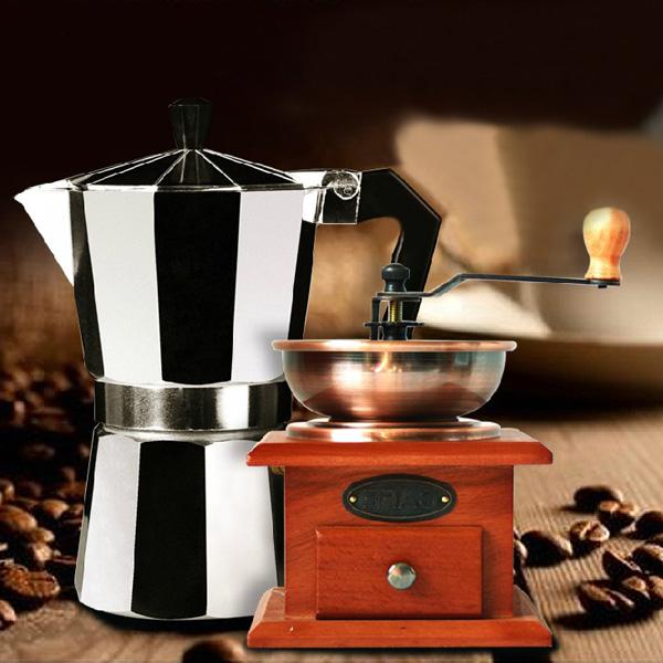 Aluminum Moka Espresso Latte Percolator