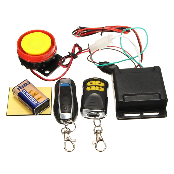 12V 125dB Motorcycle Anti-theft Security Alarm Shock Sensor System Remote Control Engine Start