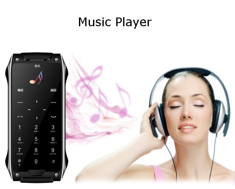 Anica X8S 1.63-дюймовый ультратонкий двойной SIM Bluetooth mp3 780mAh пульт дистанционного управления мини-карты телефона