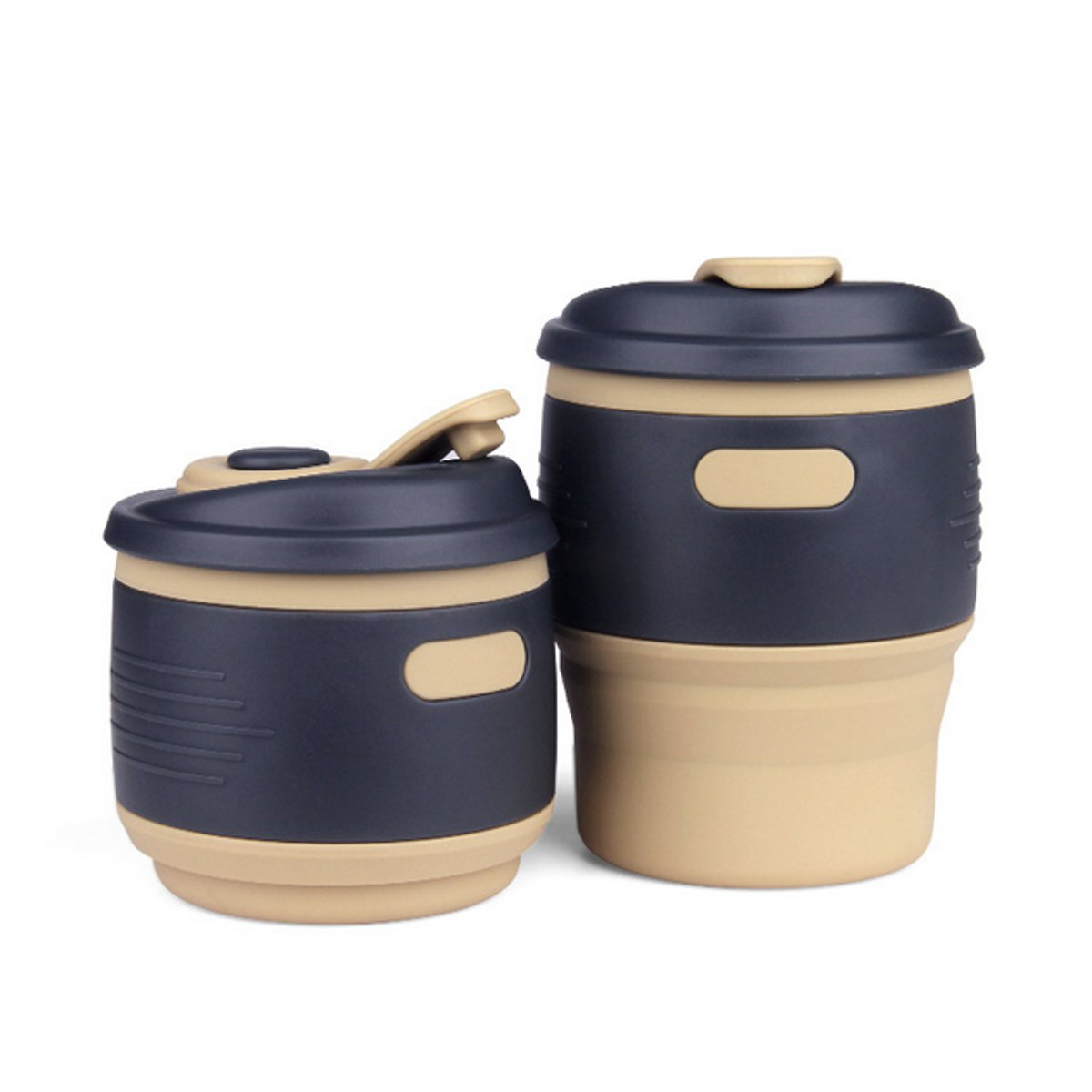 portable folding travel cup collapsible silicone coffee. Black Bedroom Furniture Sets. Home Design Ideas