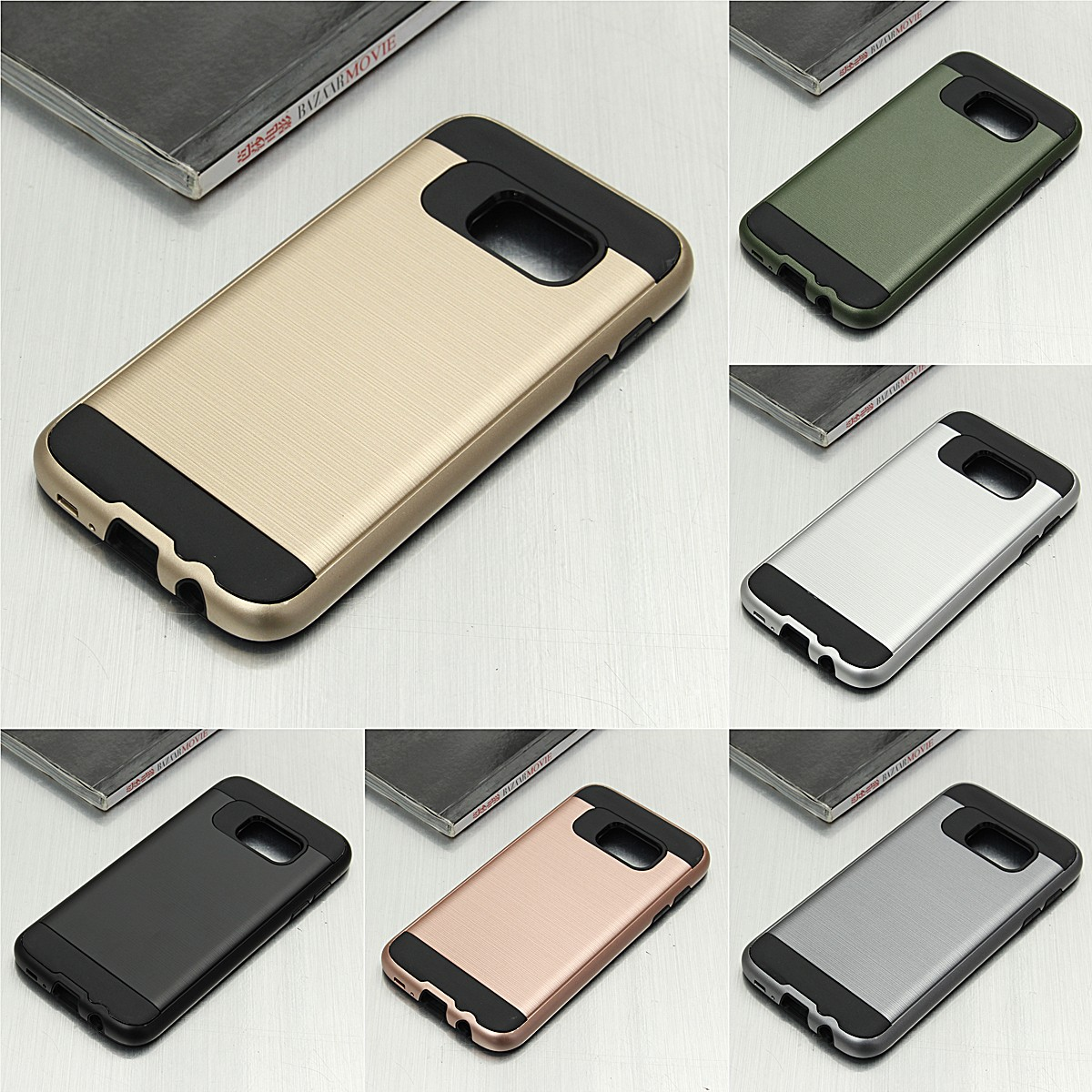 Two-in-one Brushed Armor TPU+PC Protective Case Back Cover For Samsung Galaxy S7 от Banggood INT