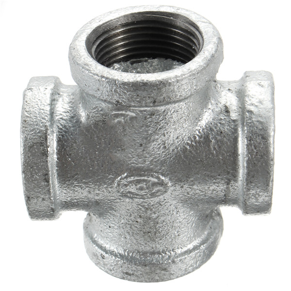 Dn inch four way threaded cross fitting malleable