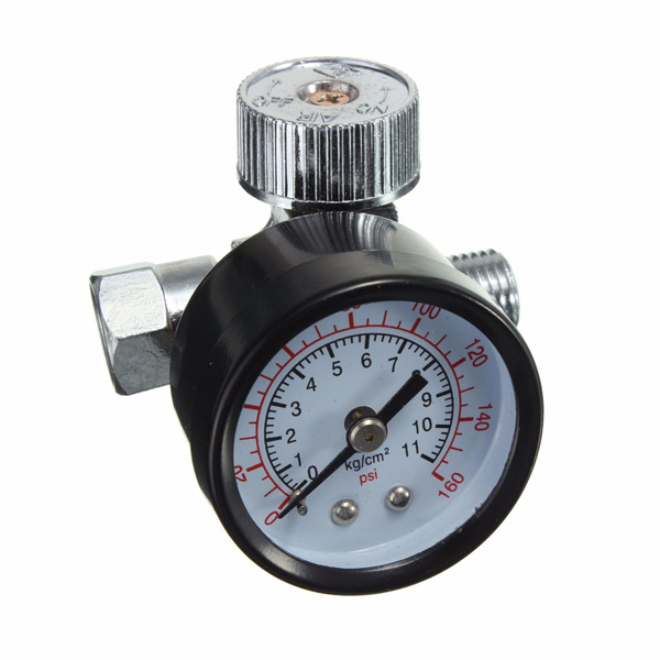 1 4inch adjustable mini air pressure regulator dial gauge hvlp spray gun air ebay. Black Bedroom Furniture Sets. Home Design Ideas