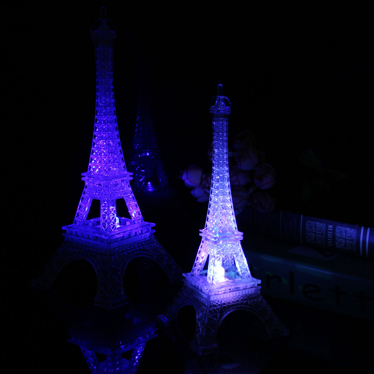 Mini Color Changing Eiffel Tower Night Light Led Table