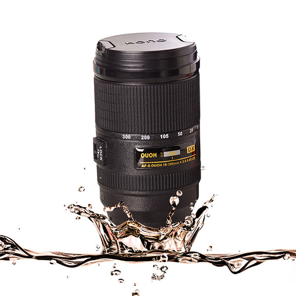 300ML Stirring Camera Lens Zoom Tea Coffee Cup