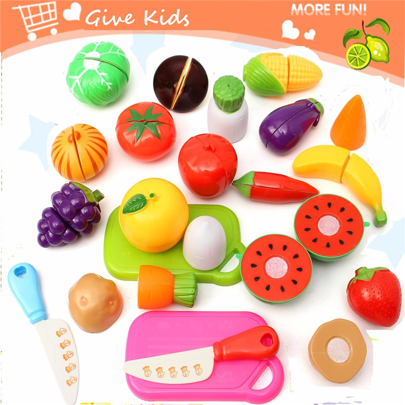 Buy 2Kitchen Fruit Vegetables Food Toy Cutting Set Kids Pretend Role Play Gifts