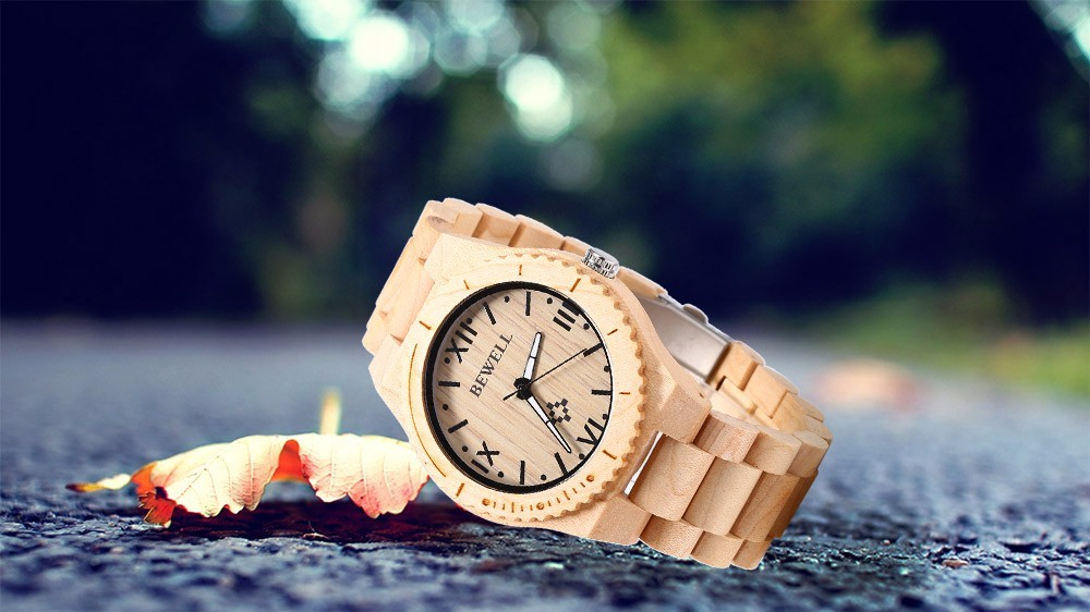 Bewell Wooden Male Watch