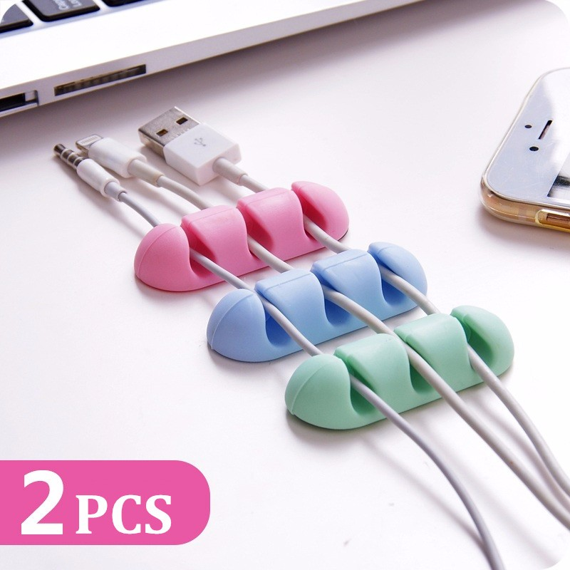 Buy TPU Cable Clips Holder Desktop Organizer Cord Management Headphone