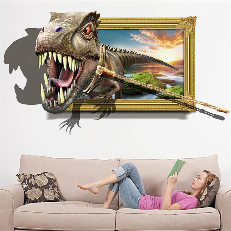 Honana 3D Dinosaur Wall Stickers Home Decor Mural Art Removable Wall Decals