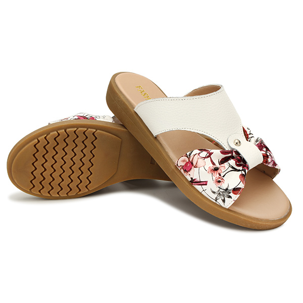 US Size 5-11 Summer Women Beach Flower Soft Comfortable Outdoor Home Flats Slipper Shoes