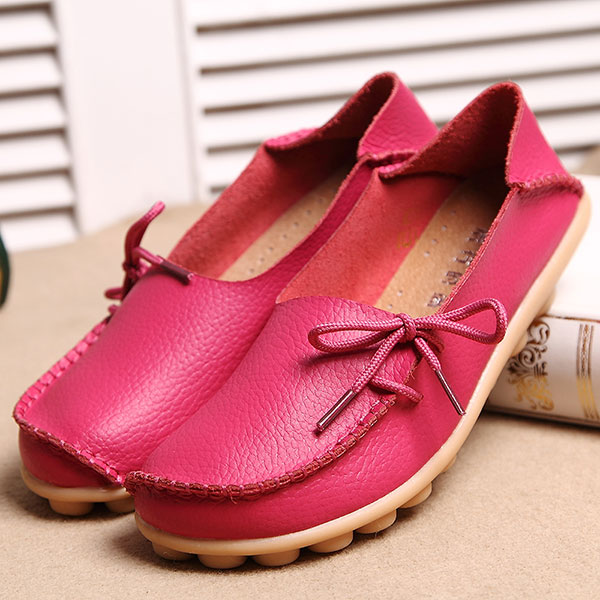 US Size 5-13 New Women Soft Comfortable Lace-Up Flat Loafers Breathable Casual Leather Flats Shoes cresfimix sapatos femininas women casual size 35 to 50 flat shoes lady cute spring