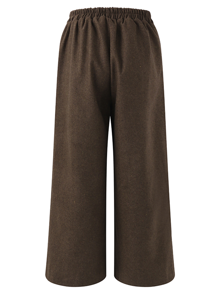 Vintage Women Thick Wide Leg Pants