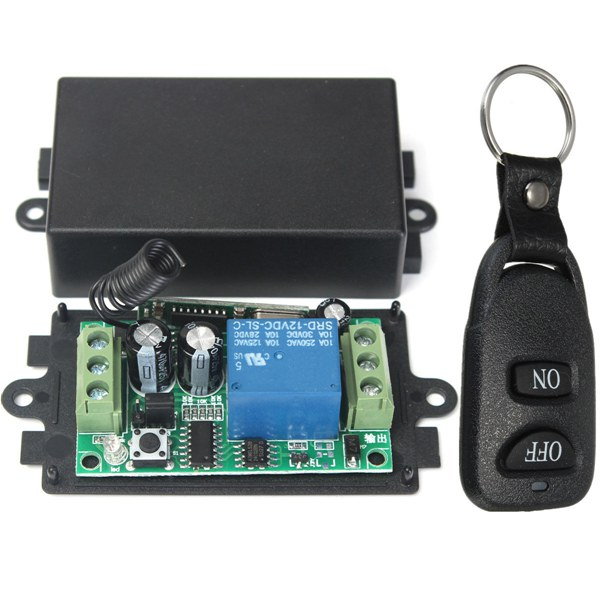 DC 12V 10A Relay 1CH Wireless RF Remote Control Switch Transmitter + Receiver george benson the new boss guitar lp