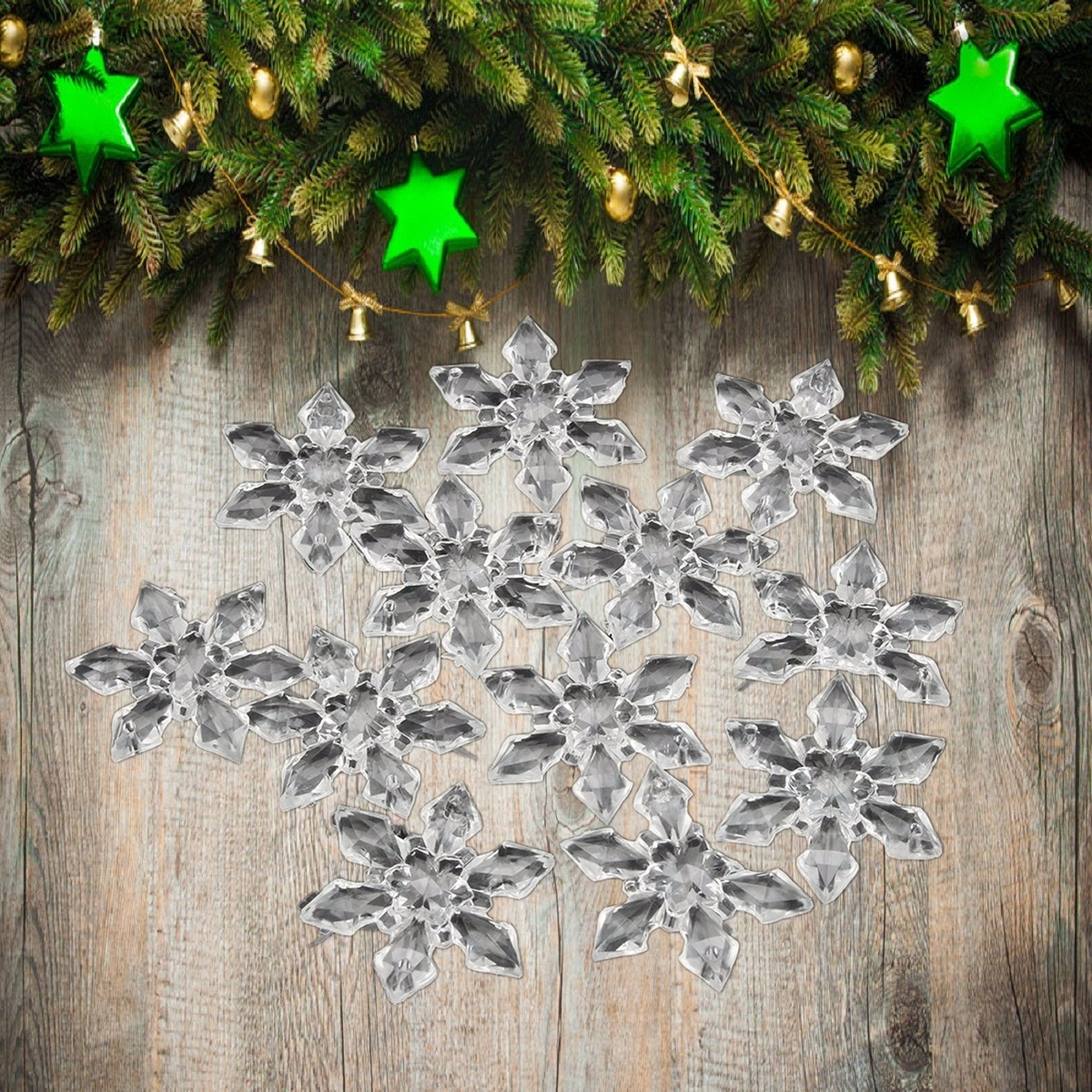 12pcs snowflakes ornaments gift party christmas tree for 3d hanging snowflake decoration