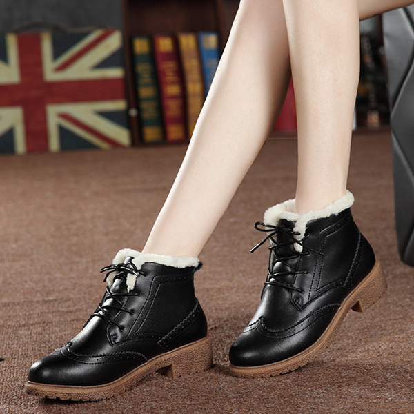 Women Winter Ankle Snow Boots