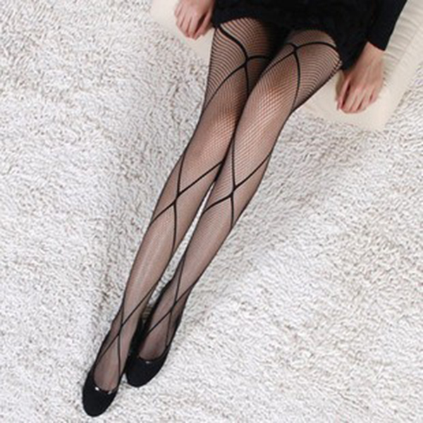 Diamond Fish Mesh Stocking