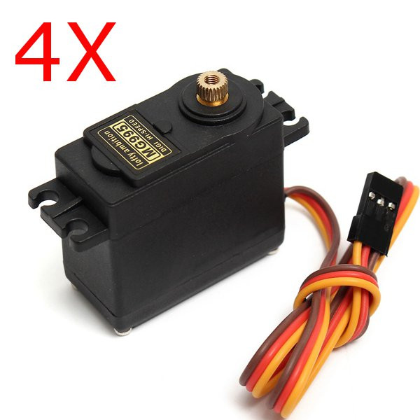 4X MG995 High Torque Metal Gear Analog Servo k2 waterproof high torque full metal gear rc servo motor airplane helicopter boat car digital servo 15kg torque angle of