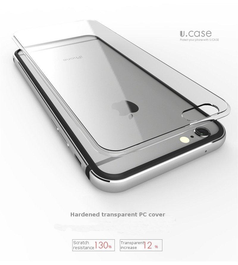 UCASEの高級な金属のアルミニウムフレームのPCのハード保護ケースカバーアップルのiPhone 6 6S用