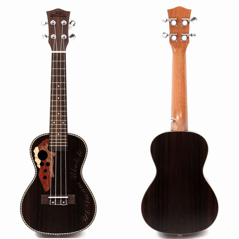"""21 Soprano Ukulele Lovely Musical Instrument Black Guitar Rosewood"""" - Photo: 2"""