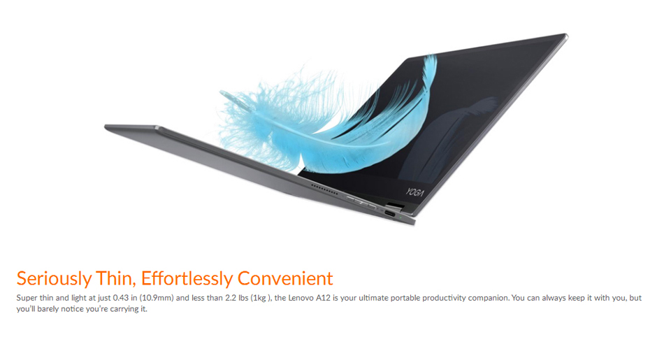 Lenovo Yoga A12 32G Intel Atom x5 Z8550 Quad Core 2.4GHz Android 6.0 12.2 Inch Tablet - visiocology.com - UK