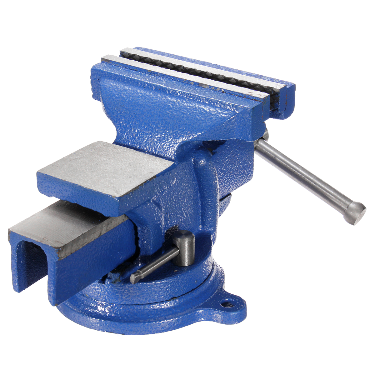 5 Inch Bench Vise With Anvil Swivel Locking Base Table Heavy Duty Steel Usa Stoc Ebay