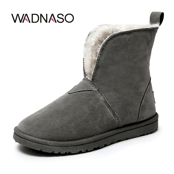 WADNASO Winter Plush Cotton Women Ankle Short Boots Keep Warm Comfortable Snow Boots