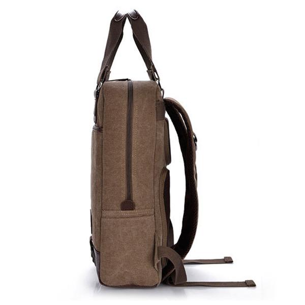 14-15inch Laptop Men Women キャンバス Casual Backpack Outdoor Knapsack