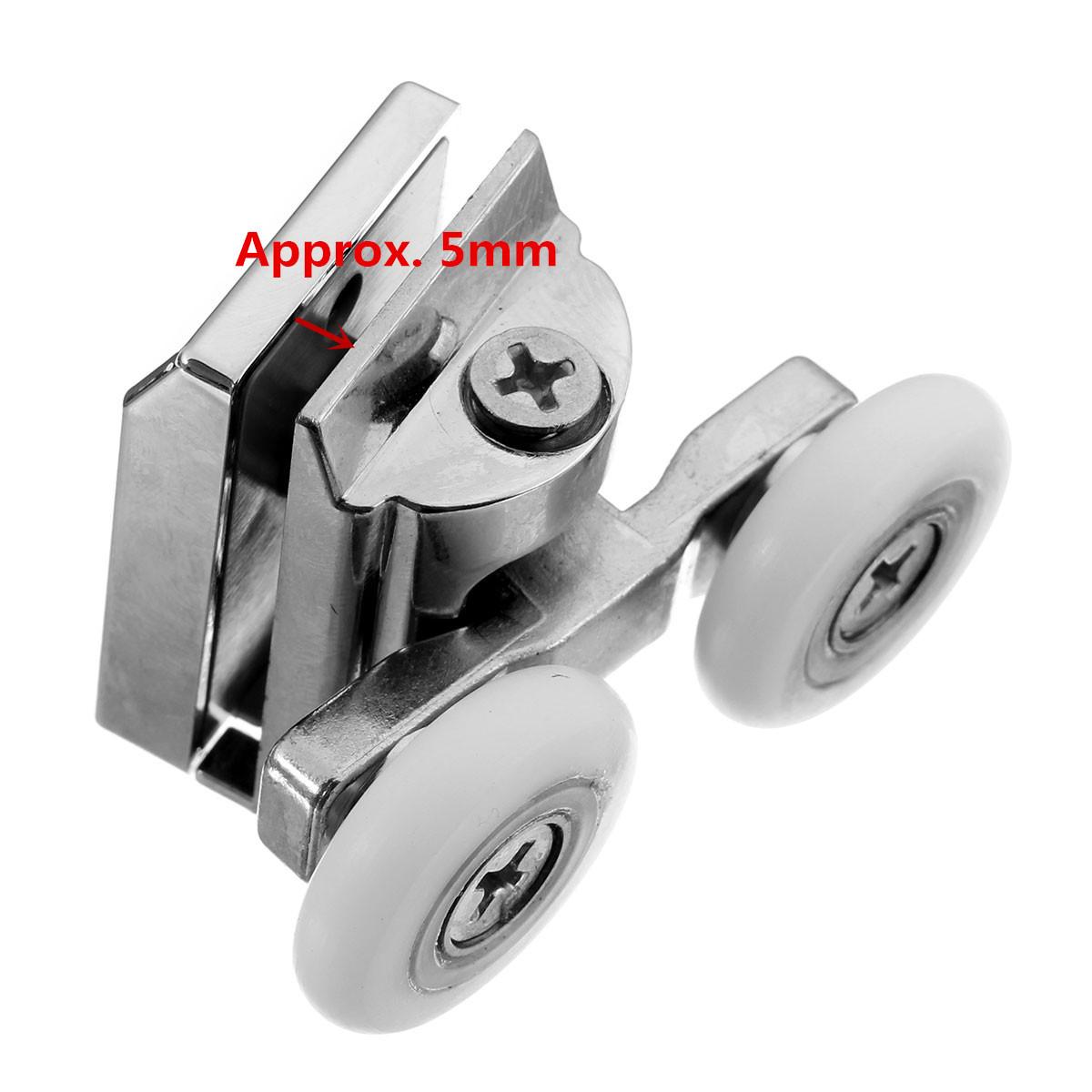 2pcs ruedas dobles puertas de ducha rodillos superiores for Perilla para ducha