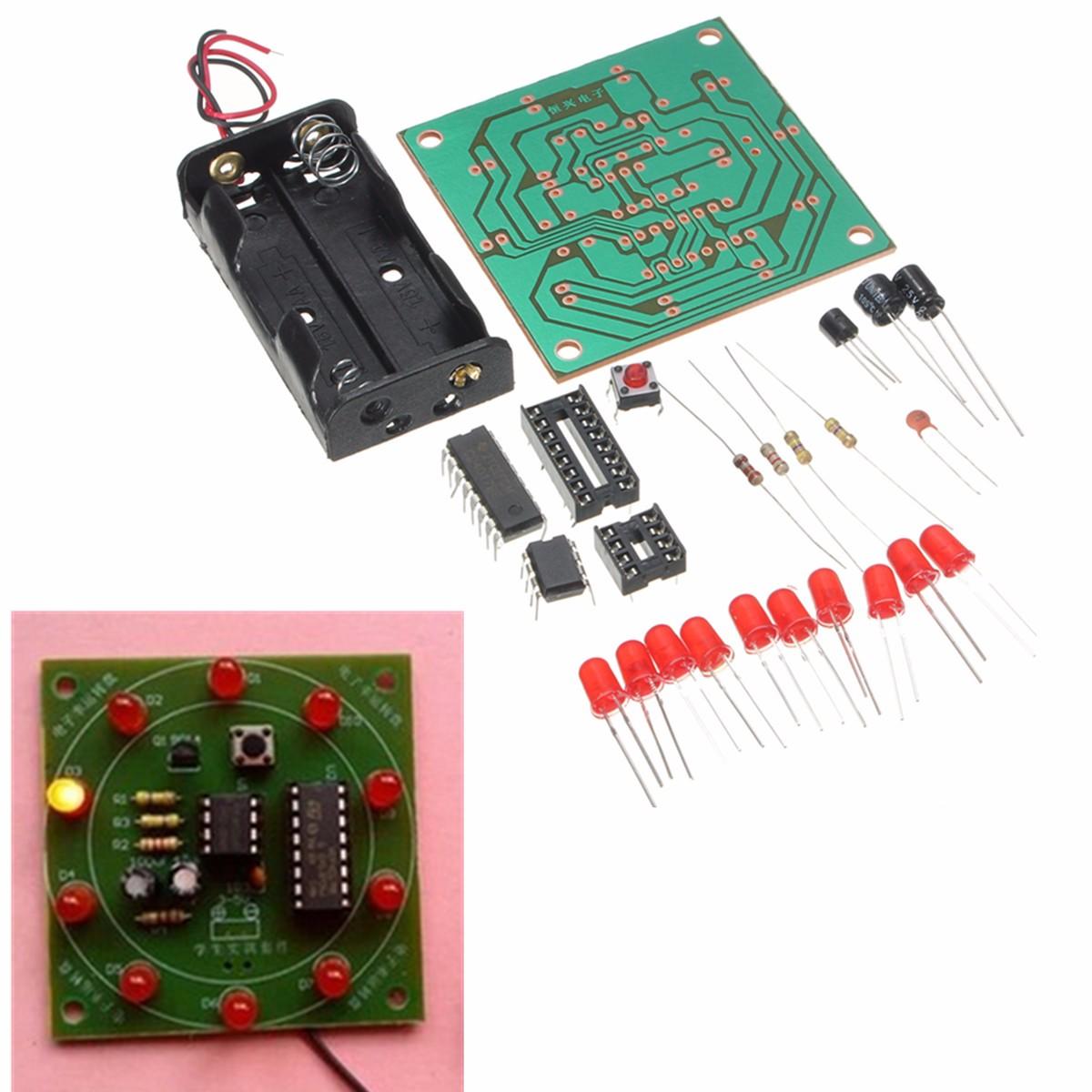 DIY Wheel Of Fortune Training Kit Electronic Lucky Rotary LED Flash Kit