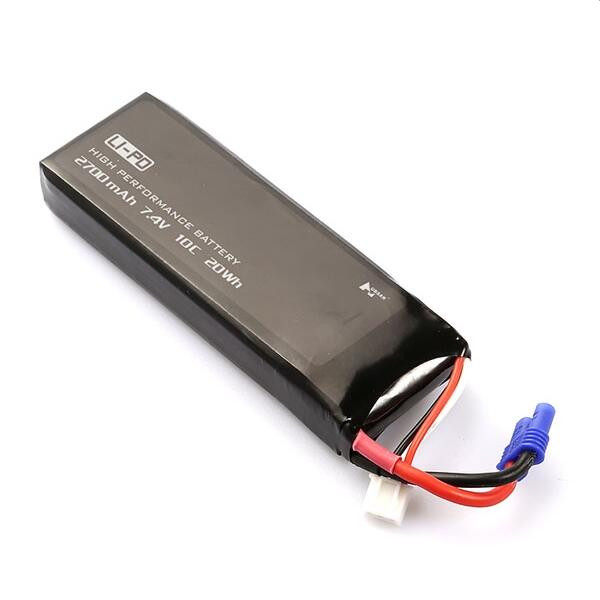 Hubsan H501S X4 RC Quadcopter Spare Parts 7.4V 2700mAh 10C Original Battery H501S-14 hubsan h501s x4 rc battery 7 4v 2700mah 10c rechargeable lipo batteies for hubsan h501c quadcopter airplane drone spare parts