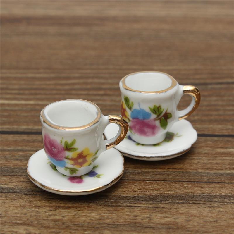 8pcs Porcelain Vintage Tea Sets Teapot Coffee Retro Floral