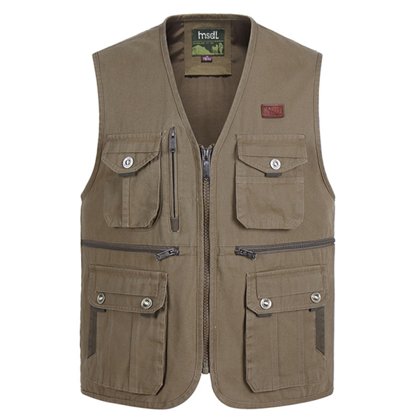 Outdoor Multi-pocket Tactical Functional Photography Fishing Spring Fall Sleeveless Vest