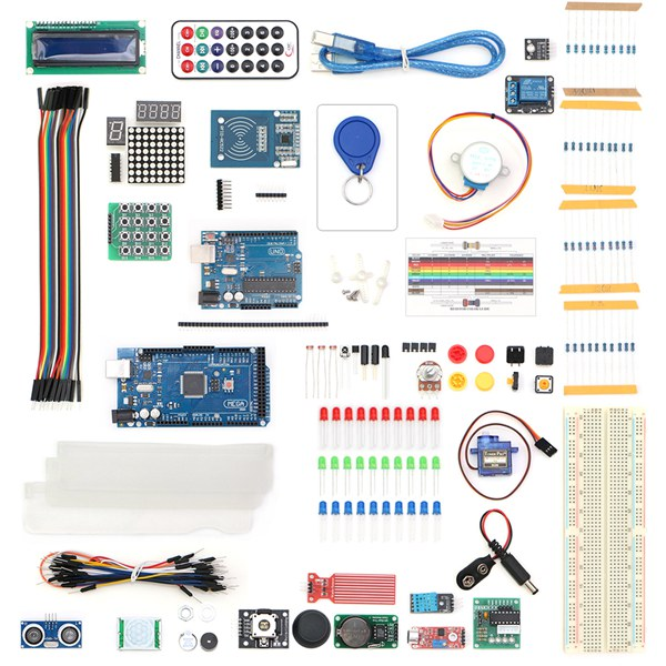UNO R3 With Mega 2560 LCD1602 HC-SR04 Sensor Module Kit For Arduino
