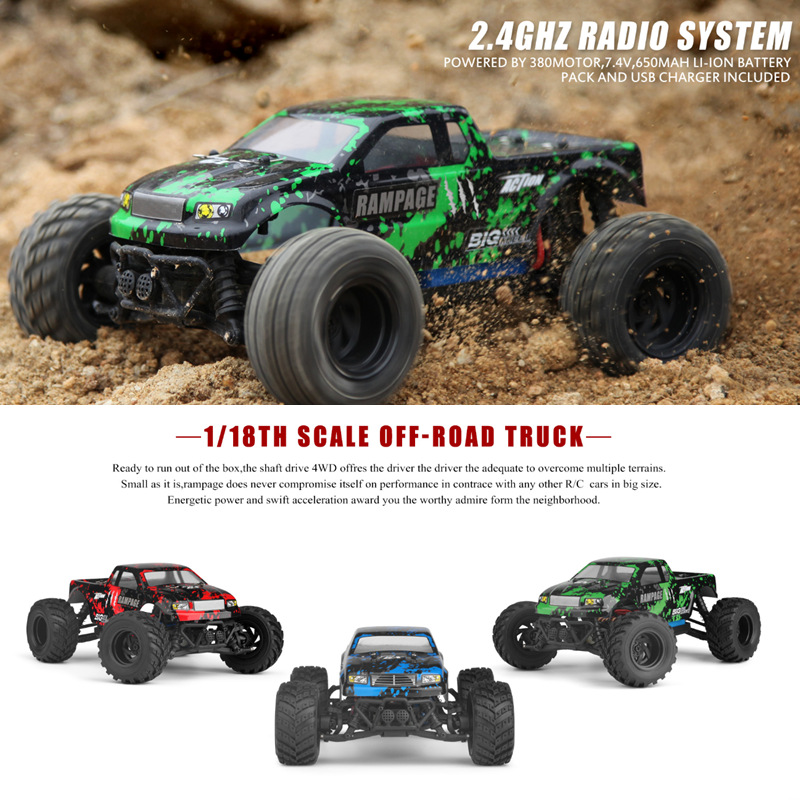 HAIBOXING 18859E 1/18 2.4G 4WD 30KM/H Electric Powered Off-road Truck - Photo: 1