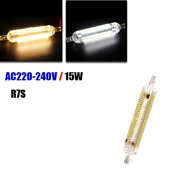 R7S LED Bulb 15W 118MM SMD 3014 228 Pure White/Warm White Corn light Lamp 220V-240V gc e14 3w 170lm 3000k 64 3014 smd led warm white light corn bulb ac 90 240v page 8