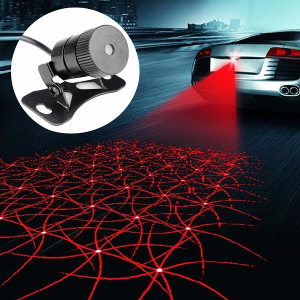 Car Laser Fog Lamp Anti-Fog Light Auto Rearing Warning Light Shining Style