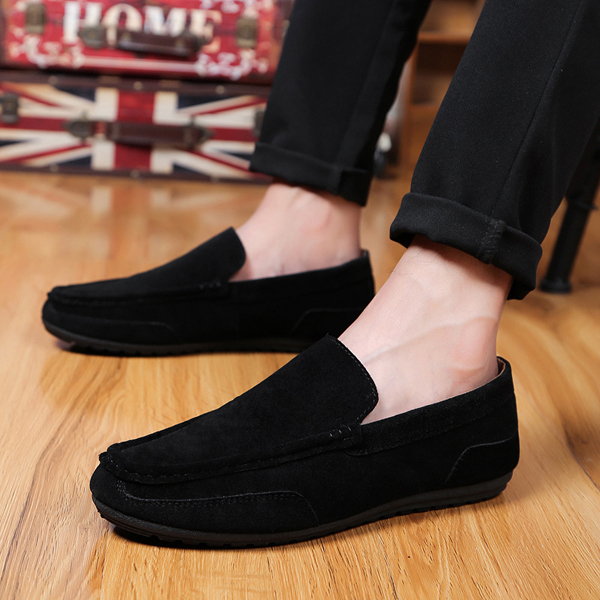 Men Suede Flat Slip On Loafers New Casual Driving Moccasins Shoes