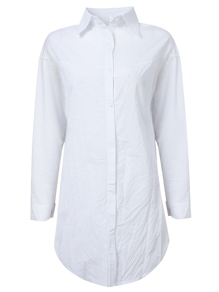 Casual Button Women Blouse