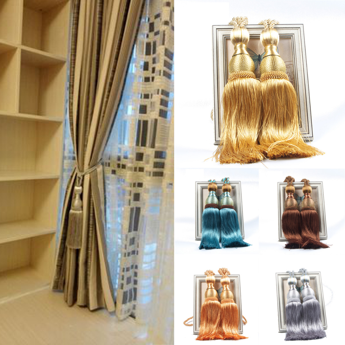 Curtain tassels tiebacks