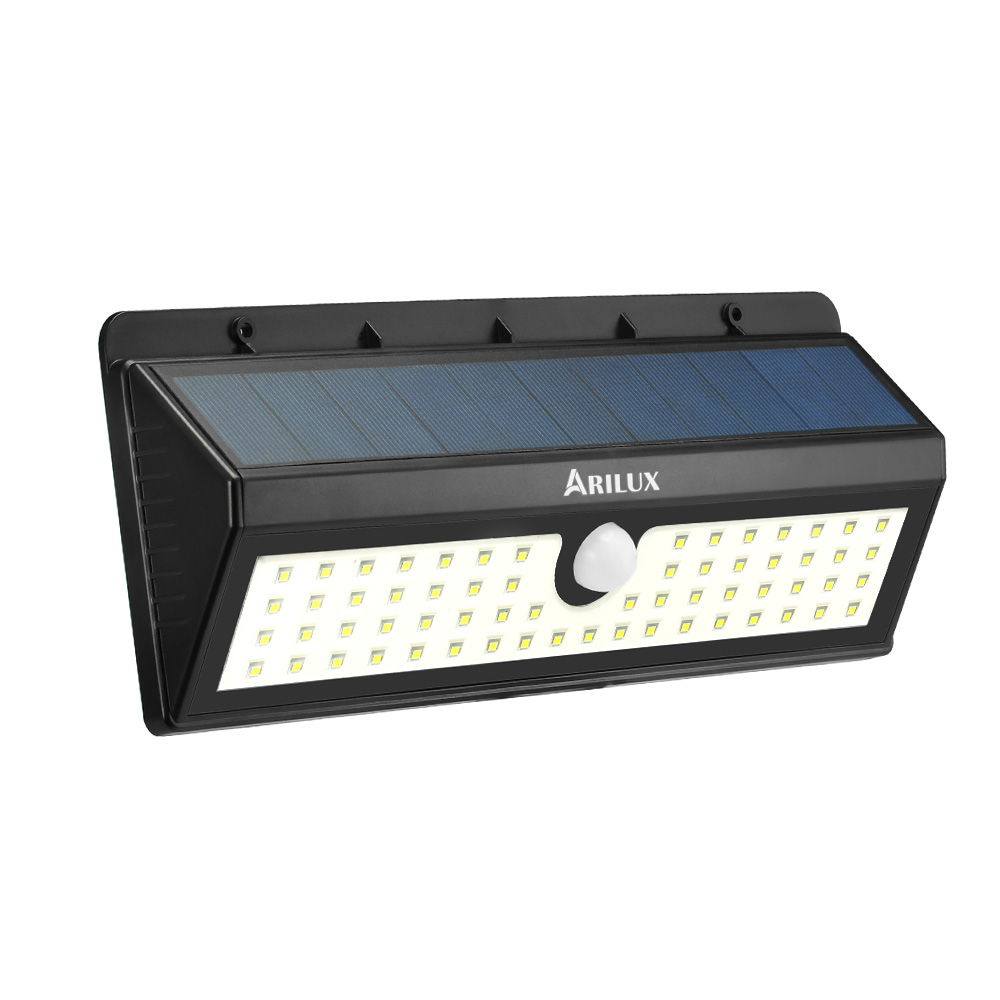 ARILUX® AL-SL06 Solar powered 62 LED pir luz de sensor de movimiento al aire libre impermeable ip65 lámpara de pared