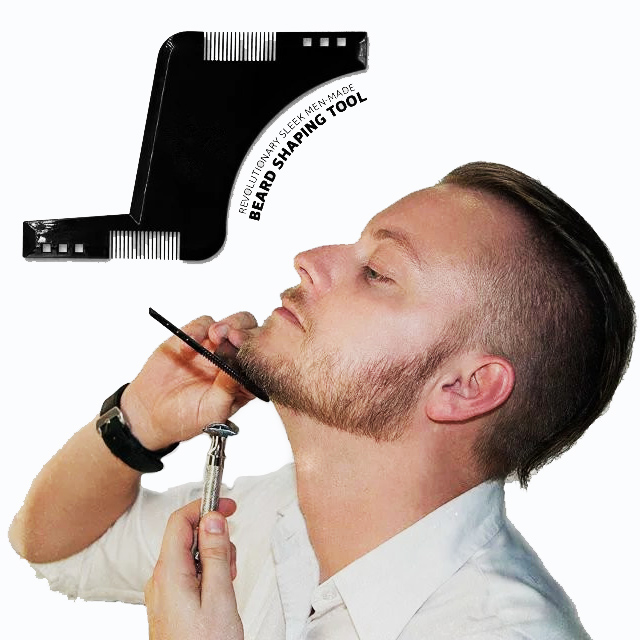 beard grooming shaping comb for shaving symmetric beards. Black Bedroom Furniture Sets. Home Design Ideas