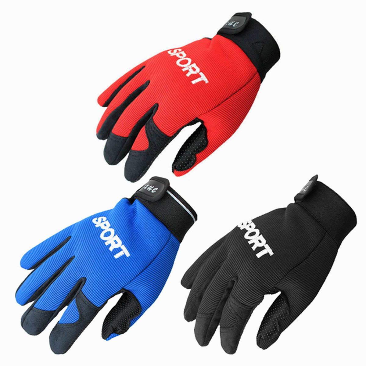 Motorcycle Outdoor Sports Full Finger Gloves Exercise Fitness Gym