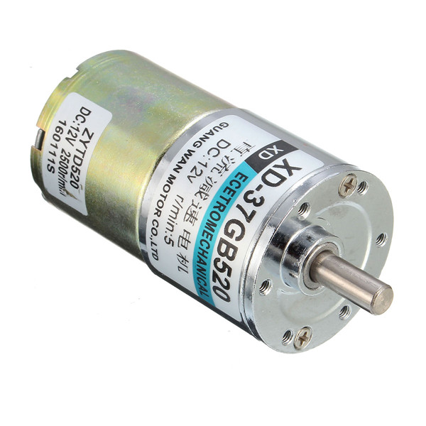 Dc 12v 5rpm electric gear motor 6mm shaft high torque for How to reduce motor speed